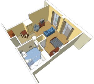 Floor plan of the rooms at AFRH Gulfport MS